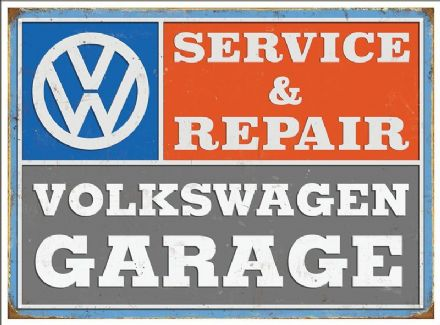 VW Service- Metal Wall Sign